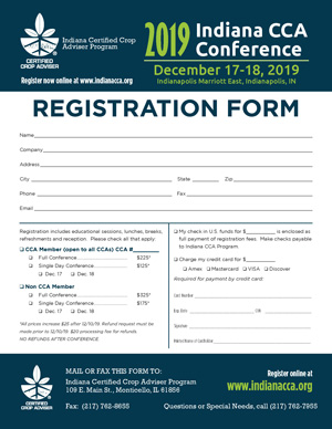 Indiana CCA Conference Registration Form